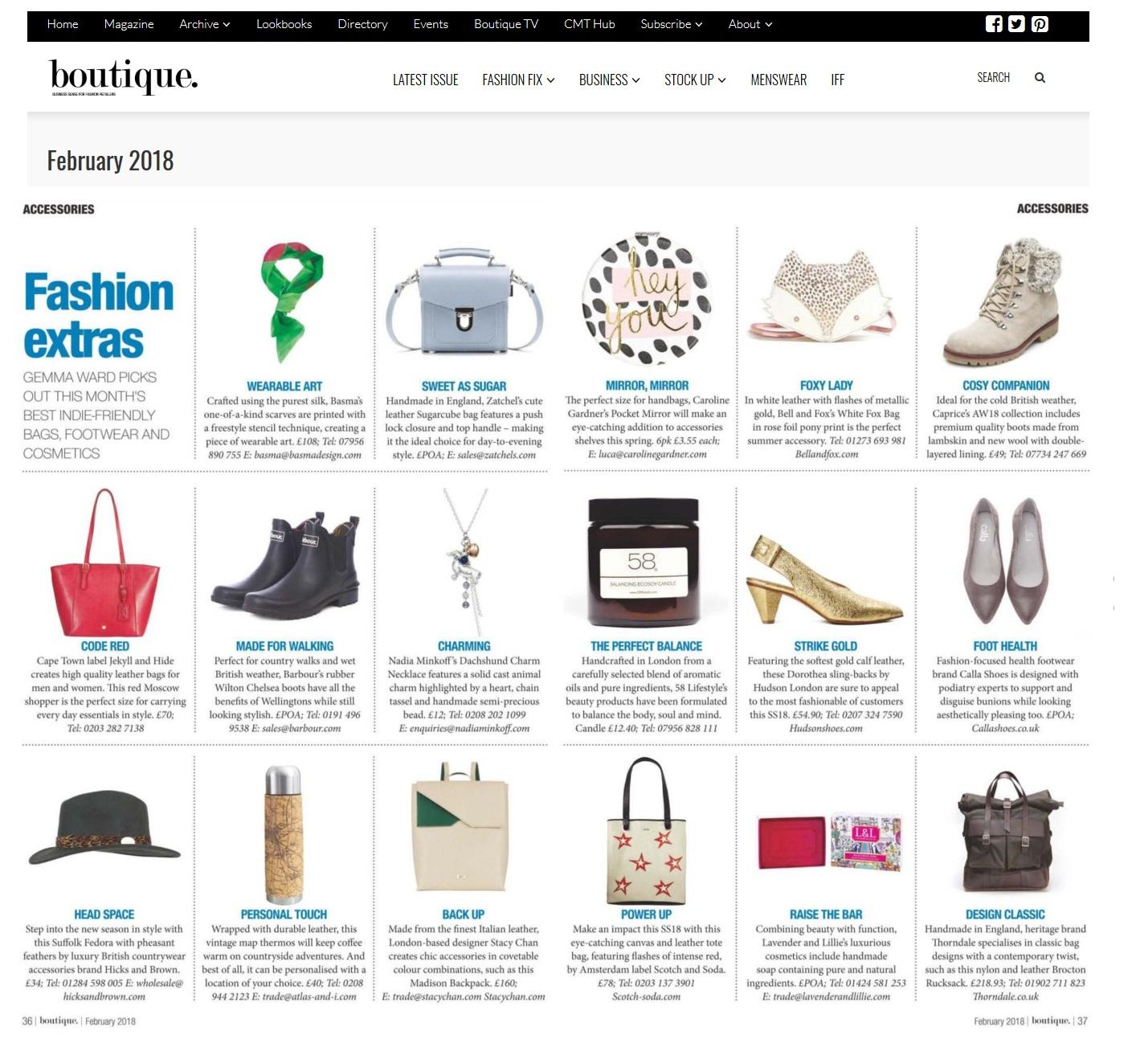 674244a2 Boutique Magazine - Fashion Extras - Lavender & Lillie