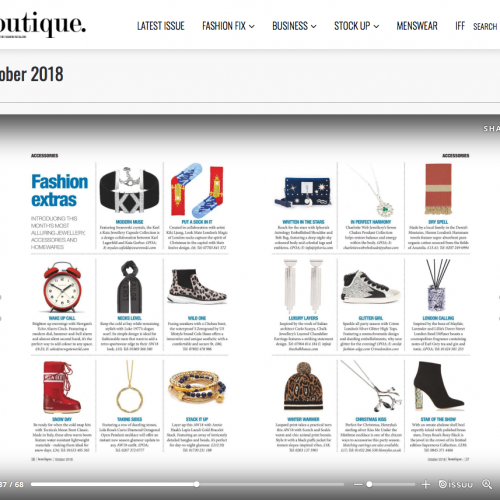 Boutique October 2018