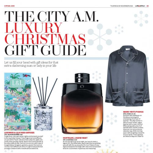 City AM Gift Guide November 2018